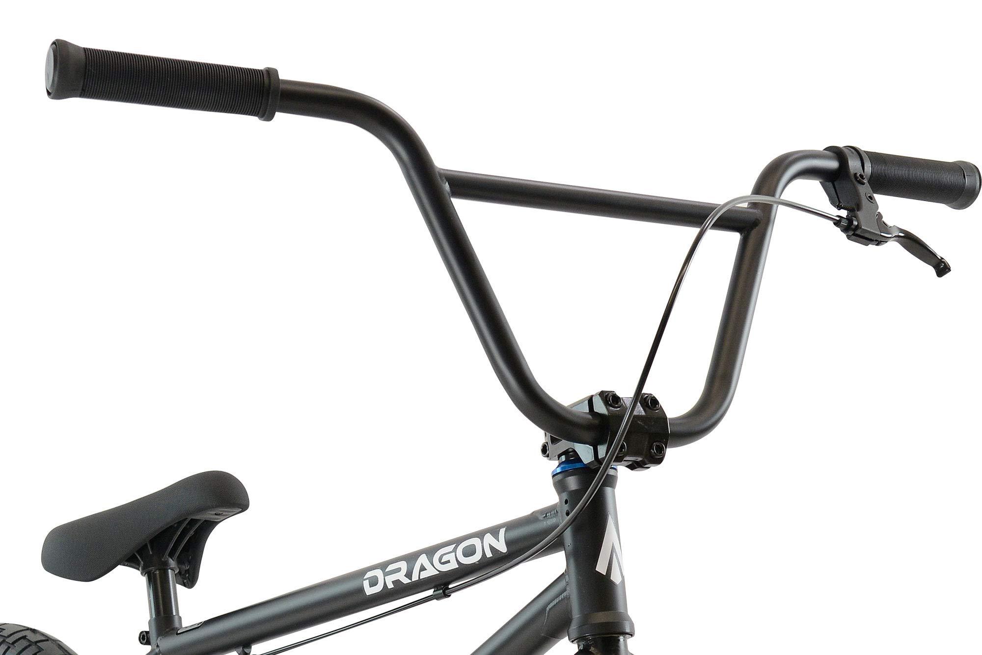Tribal Dragon Bicicleta BMX – Piezas negro mate/azul: Amazon.es ...