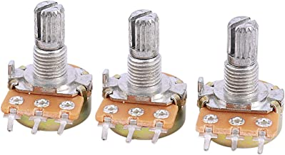Nrpfell 3 pzs 6mm Eje 3 Pines Potenciometro de ajuste conico giratorio 5K ohmios