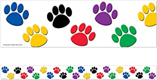 Teacher Created Resources Straight Border Trim, Colorful Paw Prints (4641)