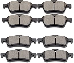SCITOO Ceramic Discs Brake Pads Kits, 8pcs Disc Brakes Pads Set fit 2002 2003 2004 2005 2006 2007 2008 Mini Cooper,Front and Rear