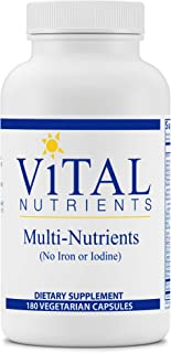 Vital Nutrients - Multi-Nutrients (No Iron or Iodine) - Comprehensive Daily Multi-Vitamin/Mineral Formula with Potent Anti...