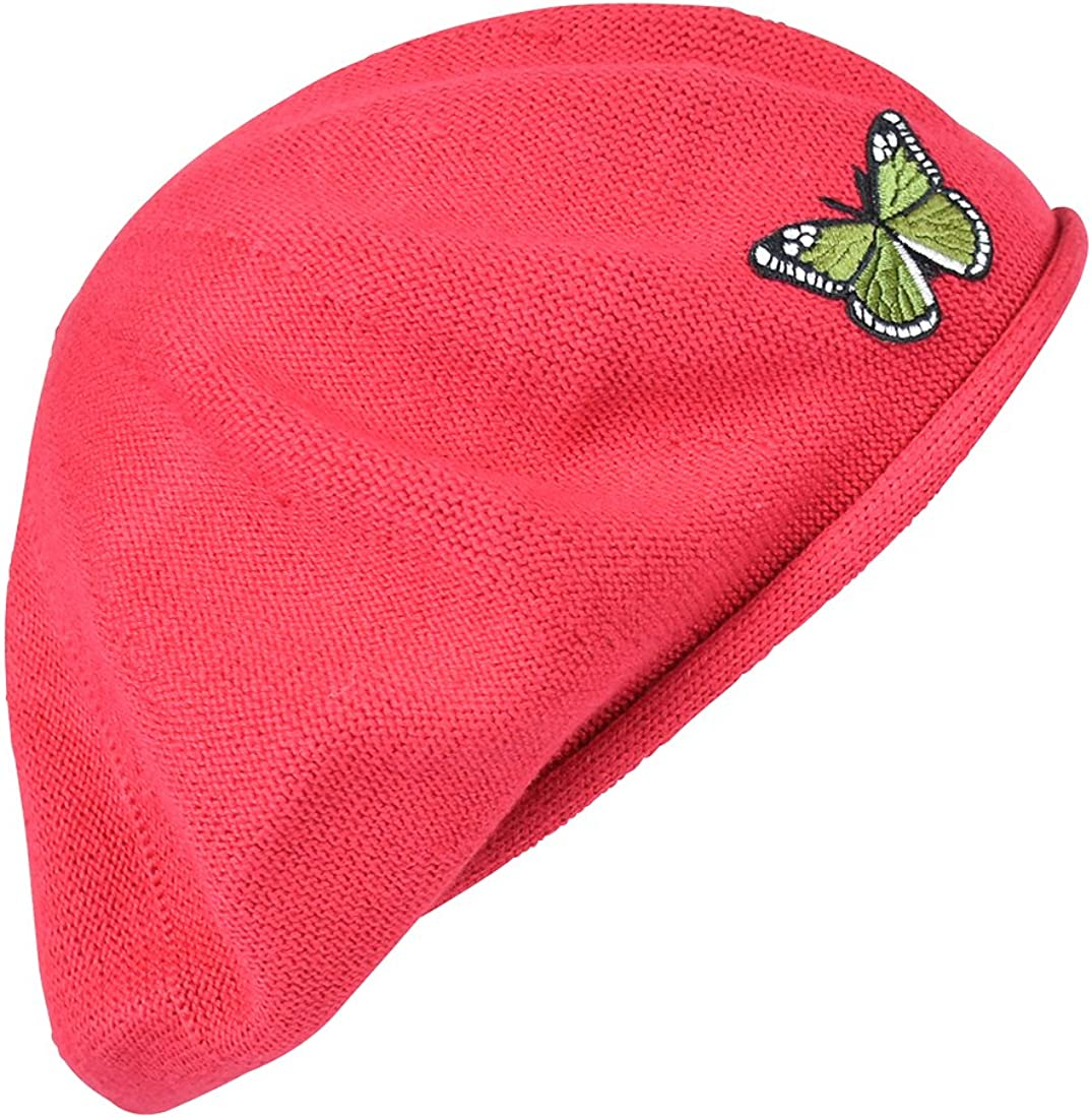Green Butterfly on Beret Cotton for price Women 100% Charlotte Mall