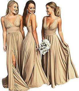 Best gold satin bridesmaid dresses Reviews