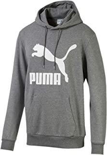 PUMA Men's Classics Logo Hoody Tr, Medium Gray Heather, XL