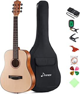Donner 36'' Dreadnought Acoustic Guitar Package 3/4 Size Beginner Guitar Kit..