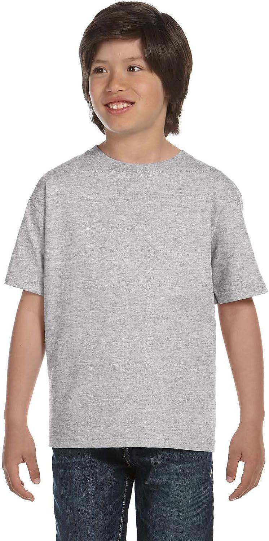 Hanes Kids' Beefy-T T-Shirt 6.1 oz, SMALL-Light Steel