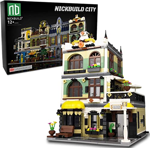 new arrival Nickbuild Street Roman Restaurant MOC online sale Building Blocks Toy, Towns Series Kits, Collectible high quality Play Model Set and Building City Toys for Kids and Teens (1186 PCS) online