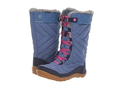 Columbia Kids Minxtm Mid III Print Omni-Heattm (Little Kid/Big Kid) (Bluebell/Pink Ice) Girls Shoes