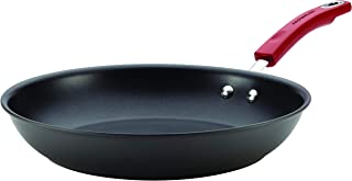 Rachael Ray Hard-Anodized Nonstick 12.5-Inch Skillet, Gray with Red Handle