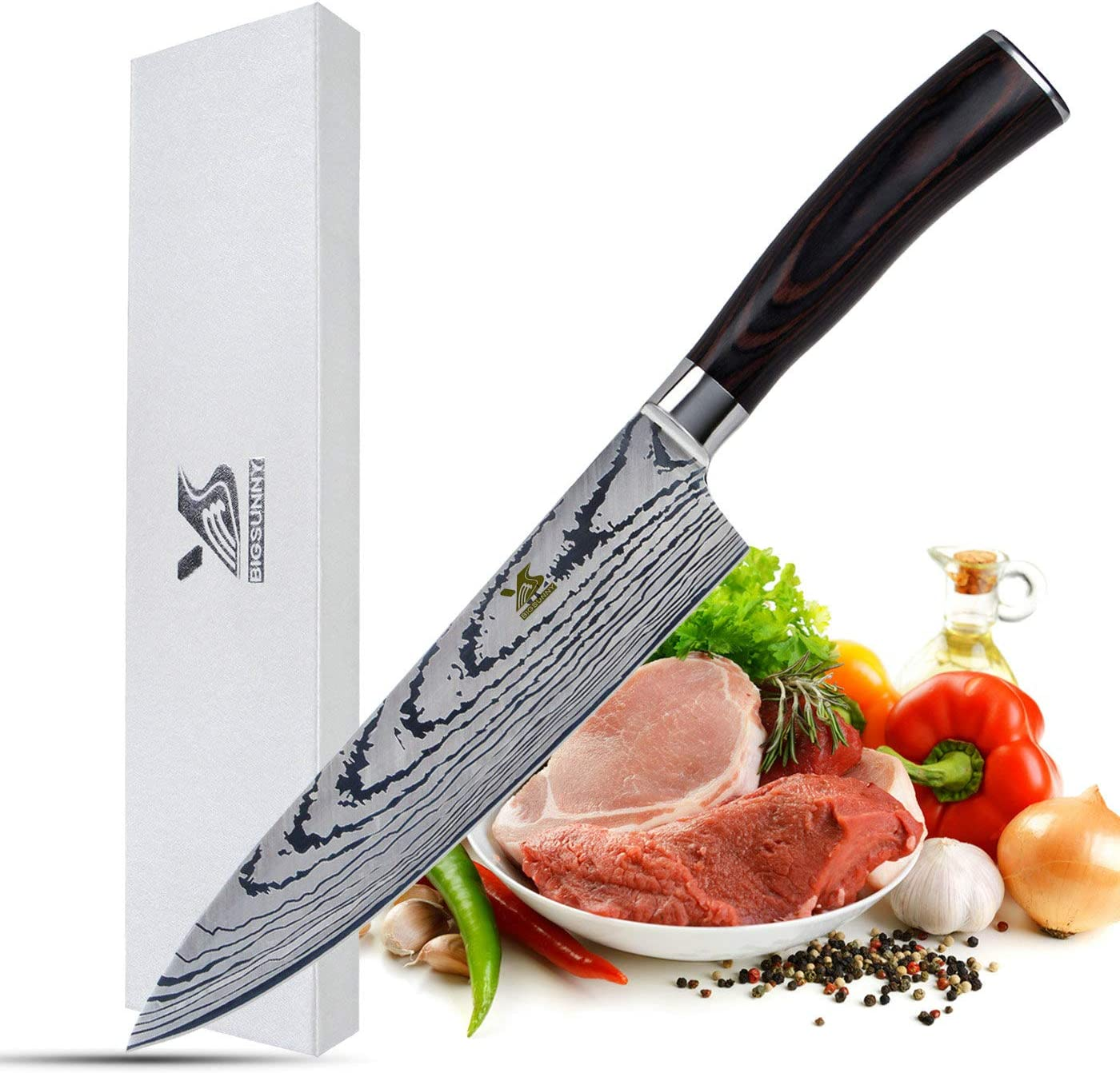 MSY BIGSUNNY Chef Knife 8-inch High Stain Kitchen 35% Super intense SALE OFF Carbon