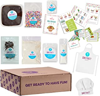 BAKETIVITY Kids Baking DIY Activity Kit - Bake Delicious Bug Cupcakes With Pre-Measured Ingredients – Best Gift Idea For Boys And Girls Ages 6-12 – Includes FREE Hat and Apron