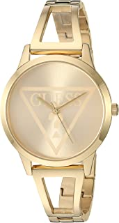 GUESS Gold-Tone Logo Watch with Self-Adjustable Bracelet. Color: Gold-Tone (Model: U1145L3)