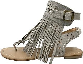 : Sandales Franges : Chaussures et Sacs