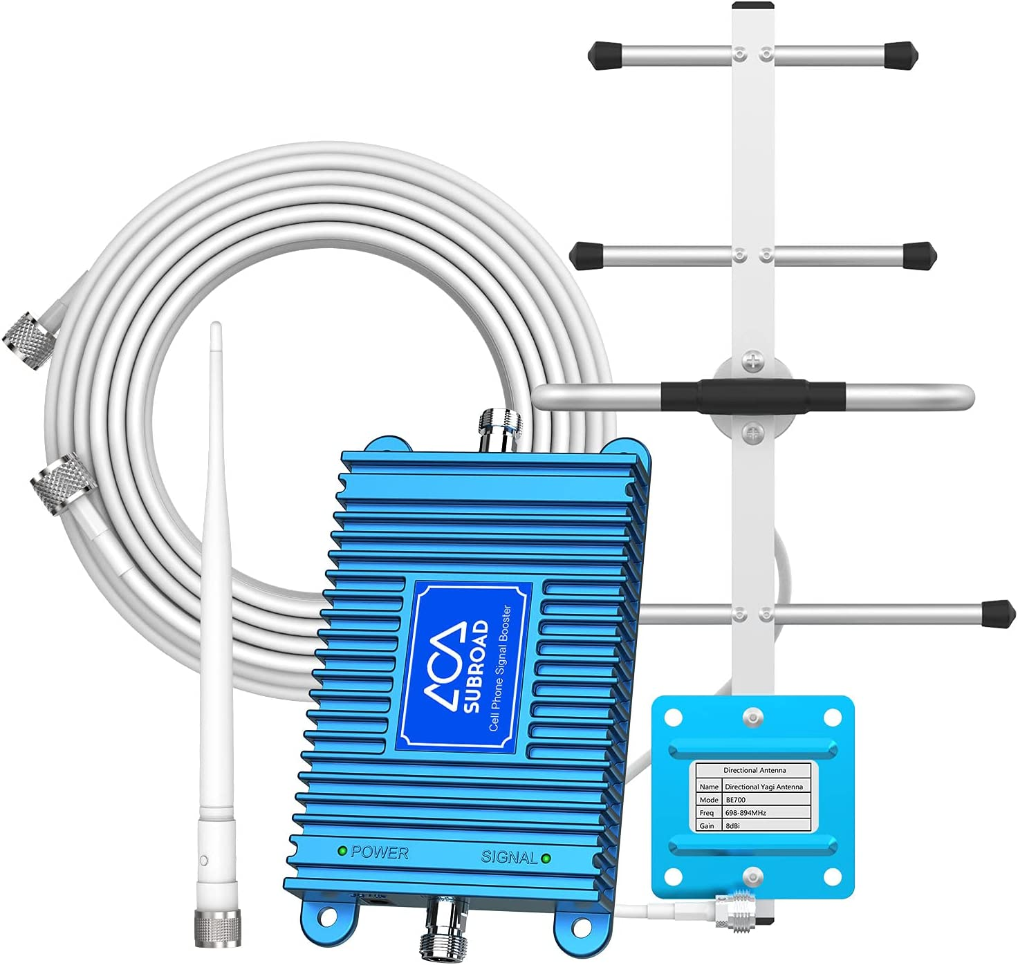 Home Cell Signal Booster for Verizon AT&T T-Mobile 4G LTE 700Mhz Band 13/12/17 Enhances Your Cellular Data and Voice in Home Up to 3,000 Sq. Ft Verizon Cellular Signal Booster for Home