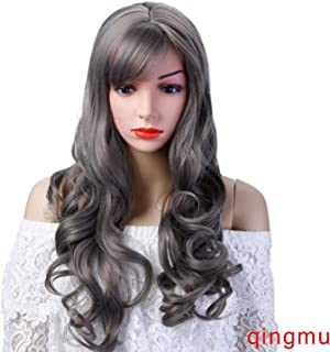 Long Wavy Wig Synthetic Heat Resistant Fiber Carnival Cos-play Cover Face Bangs Hair,#8,26inches