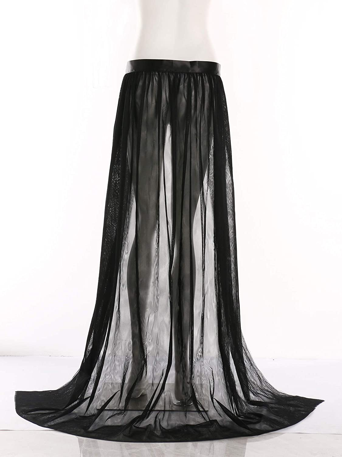 Wedding Planning Women's Long Maxi Tulle Special Occasion Bustle Night Out Skirt