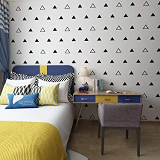 Triangles Wall Pattern Outline & Solid Vinyl Decal Stickers (Black 3