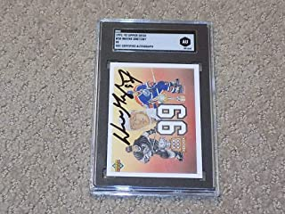 1991-92 Wayne Gretzky Signed Card #38 SGC Slabbed - Upper Deck Certified - Hockey Slabbed Autographed Rookie Cards