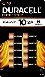Duracell Coppertop Alkaline Batteries C - 10 pk