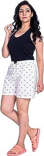 Flamboyant Women Cotton Multicolor Printed Shorts