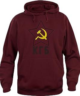 9643b2486b iMage Felpa Cappuccio Unisex KGB Unione Sovietica Servizi Segreti - Famosi
