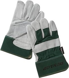 Preisvergleich für Dunlop 360133 Profi Arbeitshandschuhe Gr. L, Rindernarbenleder & Baumwolle, grün/ grau, Cat 2 zertifiziert EN 388/ 3243 preisvergleich