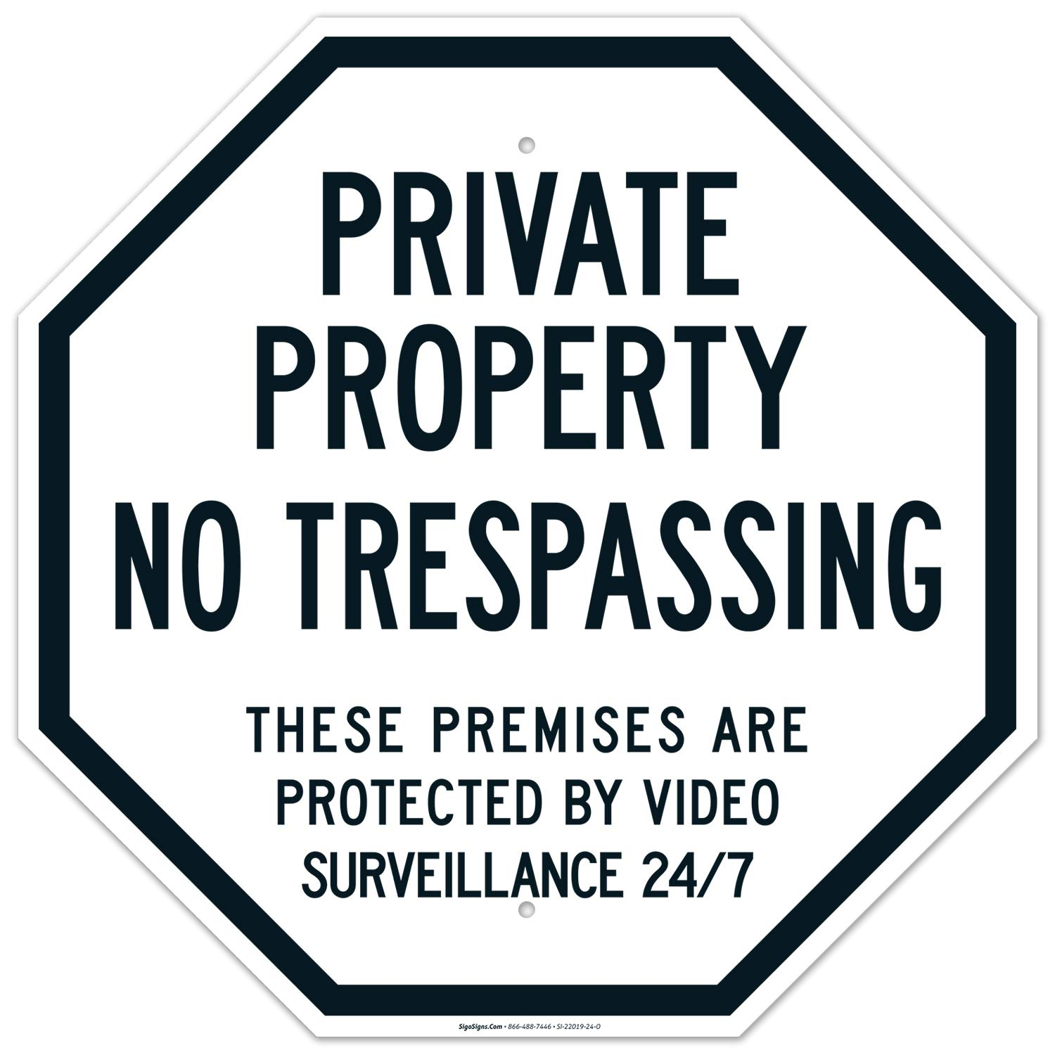 Private Property No 大放出セール Trespassing Sign Video 人気ブランド多数対象 by Surveil Protected