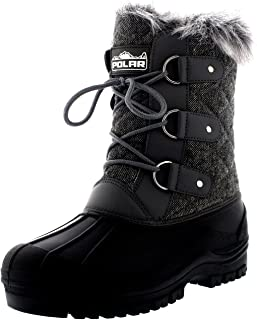 Polar Products Womens Mid Calf Mountain Walking Tactical Waterproof Boots