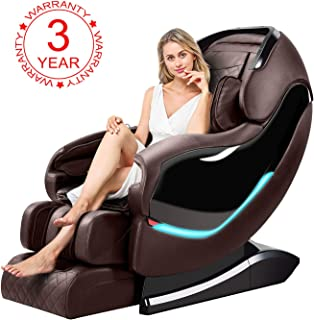 OOTORI Massage Chair, Luxurious Electric Full Body Zero Gravity Shiatsu Massaging Chair Recliner with Heating Back, Bluetooth,Foot Roller and Air Massage System for Home Office (Brown)