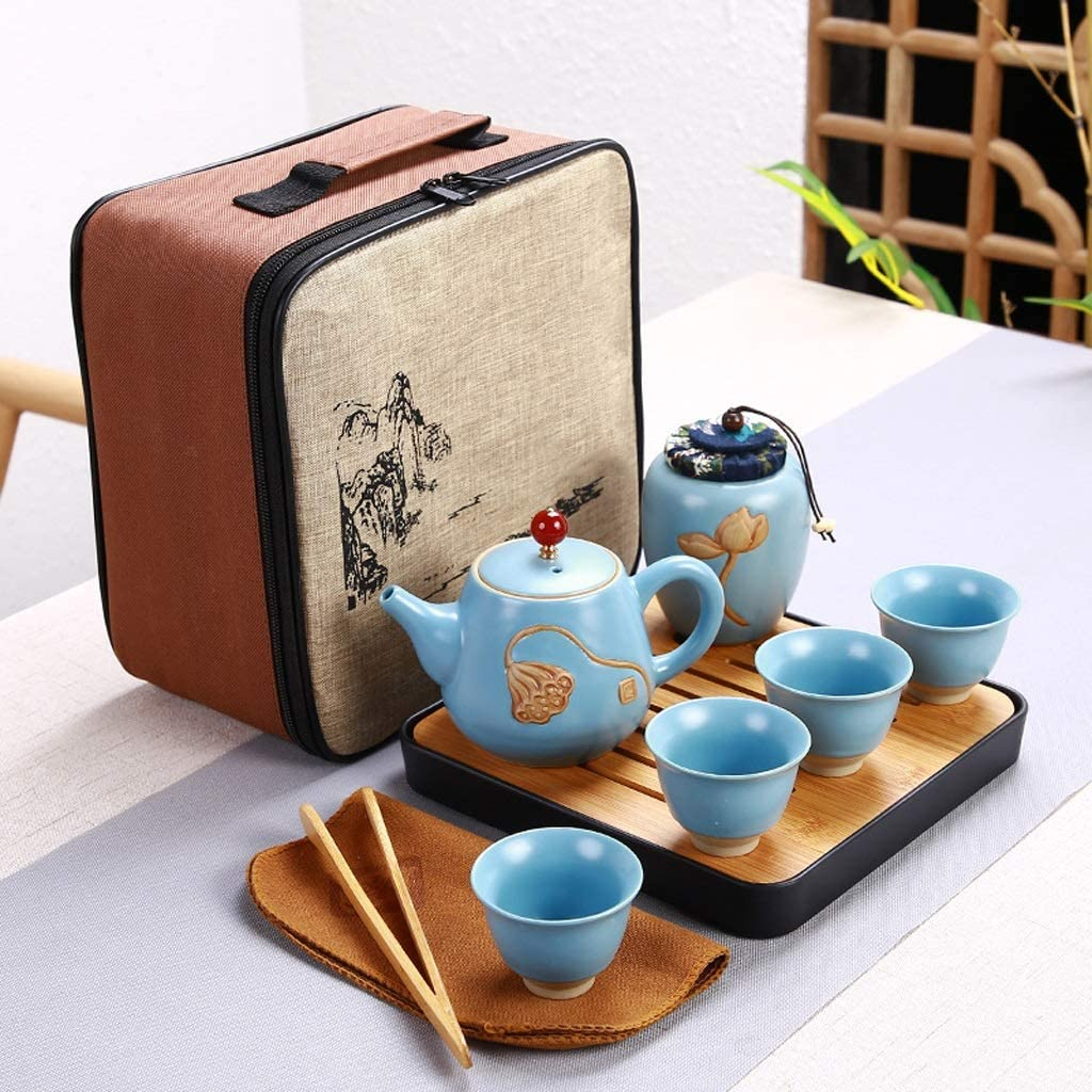 DIAOD Ceramic Teapot One Pot Four Cup Sale SALE% OFF Tea Ranking TOP16 Kung Outdoor Travel Fu