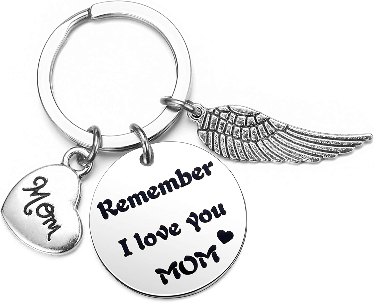 Jovivi Mothers Day Gifts for Mom from Daughter Son Keychain Remember I Love You Mom Keyring for Mother Birthday Gifts