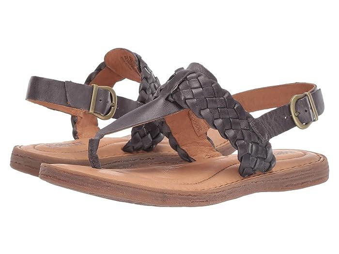 Born  Sumter (Grey Full Grain Leather) Womens Sandals