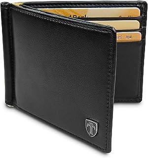 """TRAVANDO ® Portafoglio uomo con protezione RFID """"VIENNA"""" Porta carte di credito con clip per contanti Porta tessere slim t..."""