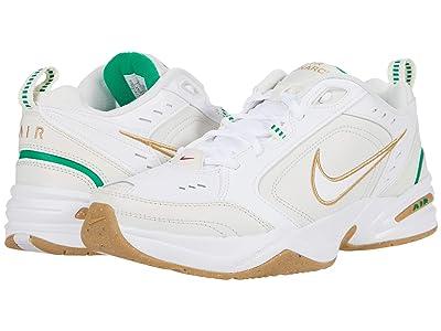 Nike Air Monarch IV (White/Metallic Gold/Phantom/Lucky Green) Men