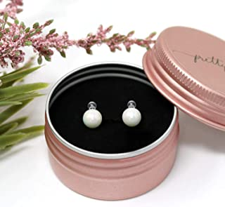 Invisible Clip On Earrings 6mm Round Simulated Shell Pearl for Non-Pierced Ears, White