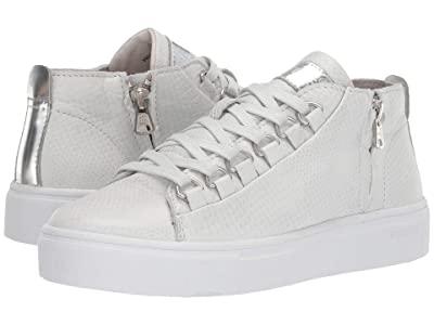 Blackstone Mid Sneaker NL28 (White Metallic) Women