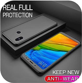 Cvnsla for Xiaomi 8 9 Lite 8SE 9SE 6 6X Pro 5 5X 5S Plus用360フルカバー保護ケース注3 Mix 2 Max 2 3 Play F1 A1 Hard Coque-BK-for Xiaomi 5S