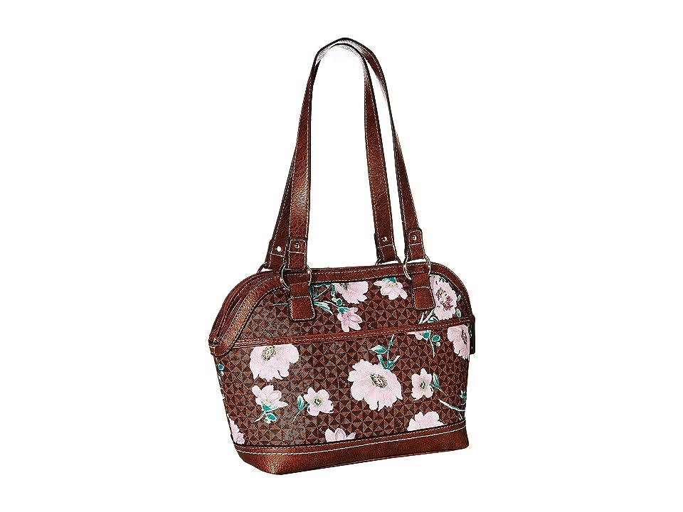 b.o.c. Travis Floral Satchel (Chocolate/Saddle) Handbags, Brown, b.o.c. Travis Floral Satchel (Black/Black) Handbags