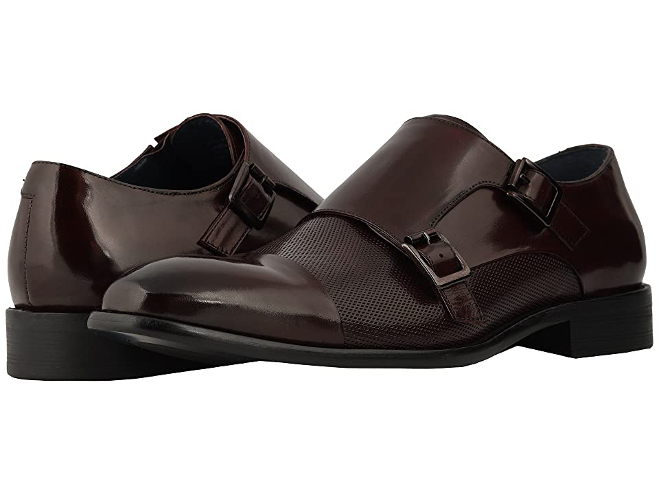 Stacy Adams Jennings Cap Toe Double Monkstrap (Burgundy) Men