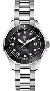 TAG Heuer Aquaracer Black Mother of Pearl Diamond Womens Watch WAY131M.BA0748