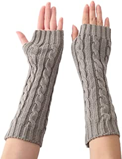 "Chendvol 13"" Knit Arm Warmers Fingerless Glove"