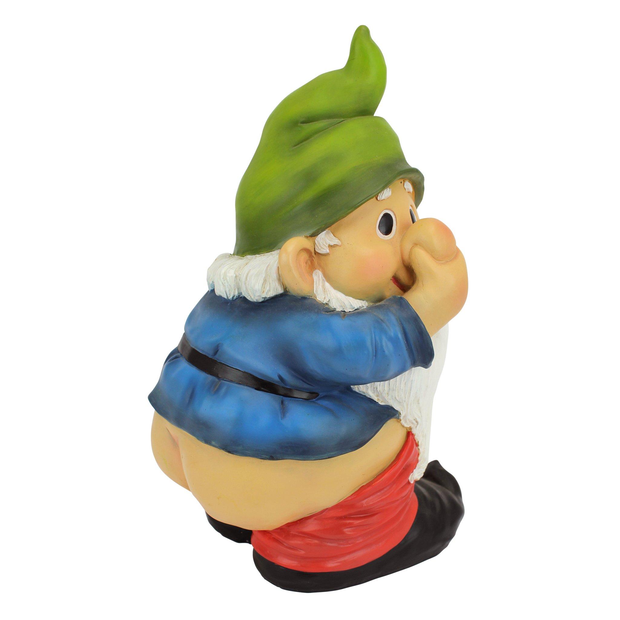 Naughty Santa Bauble Xmas Hanging Ornament for Home Decor Funny Resin Nude Gnome Ornaments 2PCS Juyuntong Naughty Wink Santa or Garden Gnome Statue