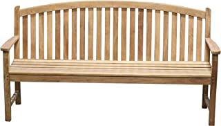Titan Teak Bow-Back Bench for Porches, Decks, and Patios, Outdoor Furniture | 6'