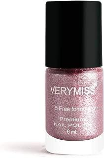 Verymiss Premium Glitter Nail Polish 6ml - Pink Shimmer