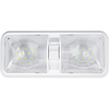 KAPAYONO 12V LED Light with Switch Caravan Motorhome Boat Awning Annex Tunnel Boot White
