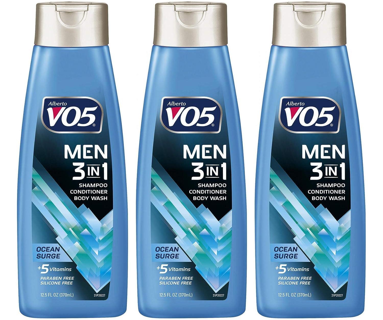 3 Pk Alberto VO5 Men's 3-in-1 O Shampoo Body New York Mall Wash Phoenix Mall Conditioner