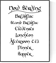 Geekilicious Art The Hobbit's Daily Meal Print | Now Serving Poster (8x10)