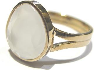 anillo cuarzo Oro 750%