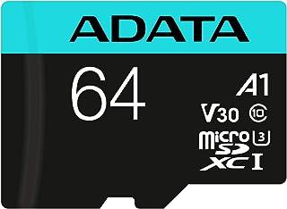 AData 256GB Premier Pro microSDXC CL10 UHS-I U3 V30 A2 SDカード搭載のメモリカードモデルAUSDX256GUI3V30SA2-RA1