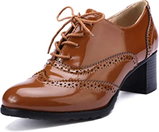 leather brogue school shoes